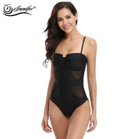 JAONIFER One Piece Swimwear 2017 Women Mesh Style Swimsuit Bathing Vintage Beachwear Swimsuits Women Backless Swimwear