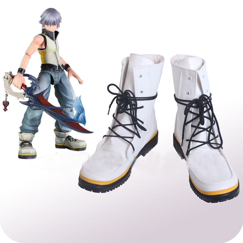 Kingdom Hearts Riku White Cosplay Shoes Boots Halloween Carnival Cosplay Costume Accessories