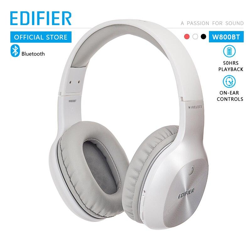 Edifier w800bt com fio e sem fio bluetooth fones de ouvido on-ear controles conforto leve e até 35 horas de reprodução