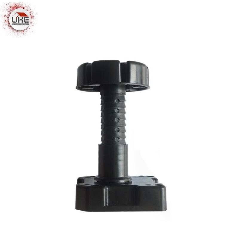 UKE 125-195mm Adjustable Feet Cabinet Foot Circular Plastic Thick And Strong Adjustable Furniture Feet  PP Black Foot  Leg
