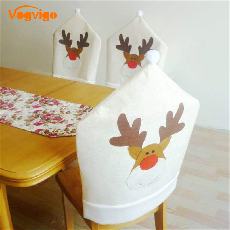 все цены на VOGViGO 1Pc Christmas Chair Covers Elk Brown Hat For Xmas Party Dinner Decor Home Kitchen Decoration Ornaments Supplies