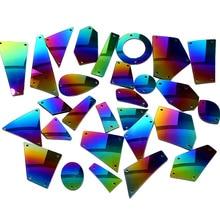 2d69fc83 20pcs Rainbow Mirror Sew On Rhinestones Irregular Acrylic Mirror Rainbow  Crystal Stone Sewing Rhinestone For Wedding · 38 Colors Available
