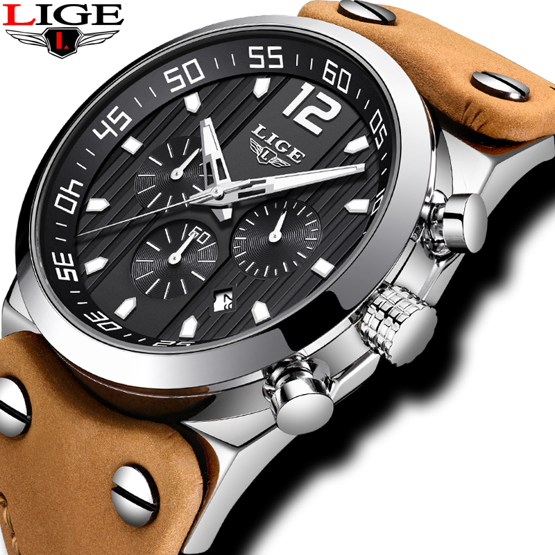 New Watch Men LIGE Mens Watches Top Brand Luxury Quartz wristwatch Male Military Waterproof Sport Chronograph Relogio Masculino цена