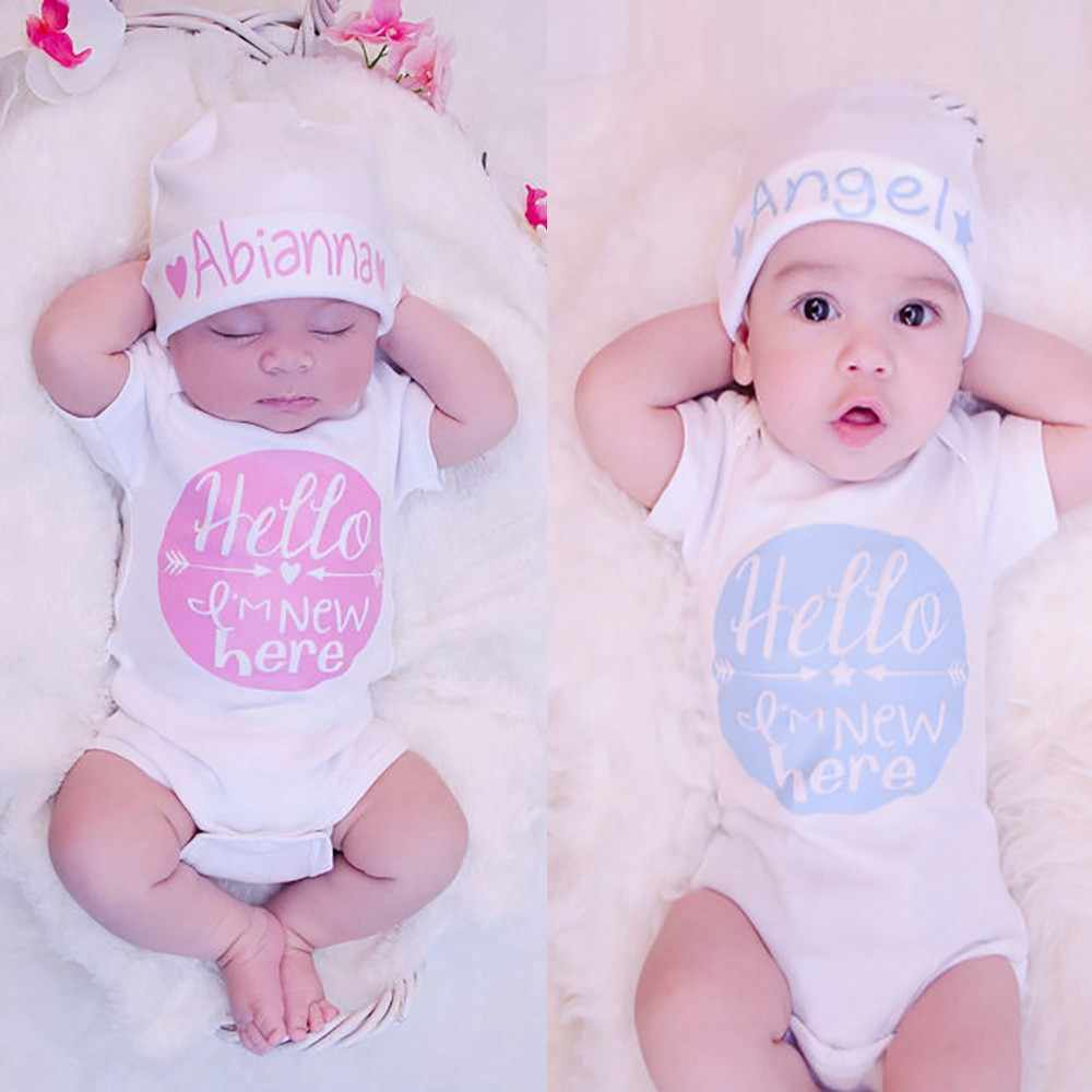 Summer Baby clothes Toddler Newborn Baby Arrow Color Round Letter Short Sleeve infant rompers Jumpsuit cotton Outfits Clothes