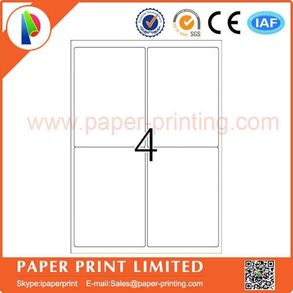 200 Folhas A4 Adesivo Computador Imprimir Etiquetas Compativeis