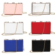 Female acrylic clutch Transparent Clutch Chain Box Women Shoulder Messenger Bags Wedding Party Day Purse Wallet Handbags