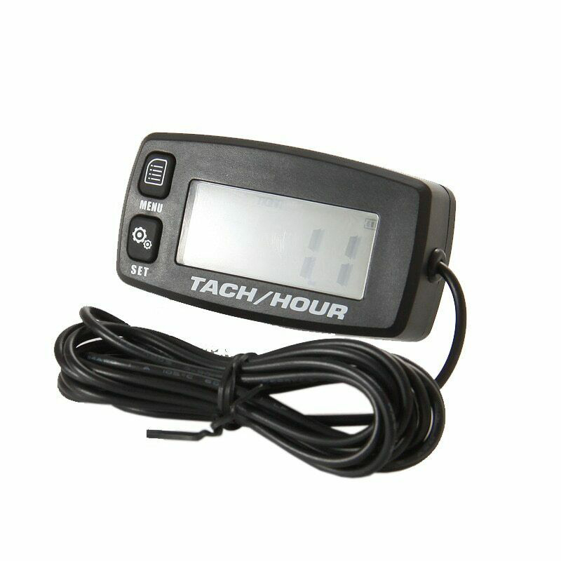 New Waterproof Backlit Digital Tach Hour Meter Tachometer 2/4 Stroke Engines auto replacement battery digital tachometer