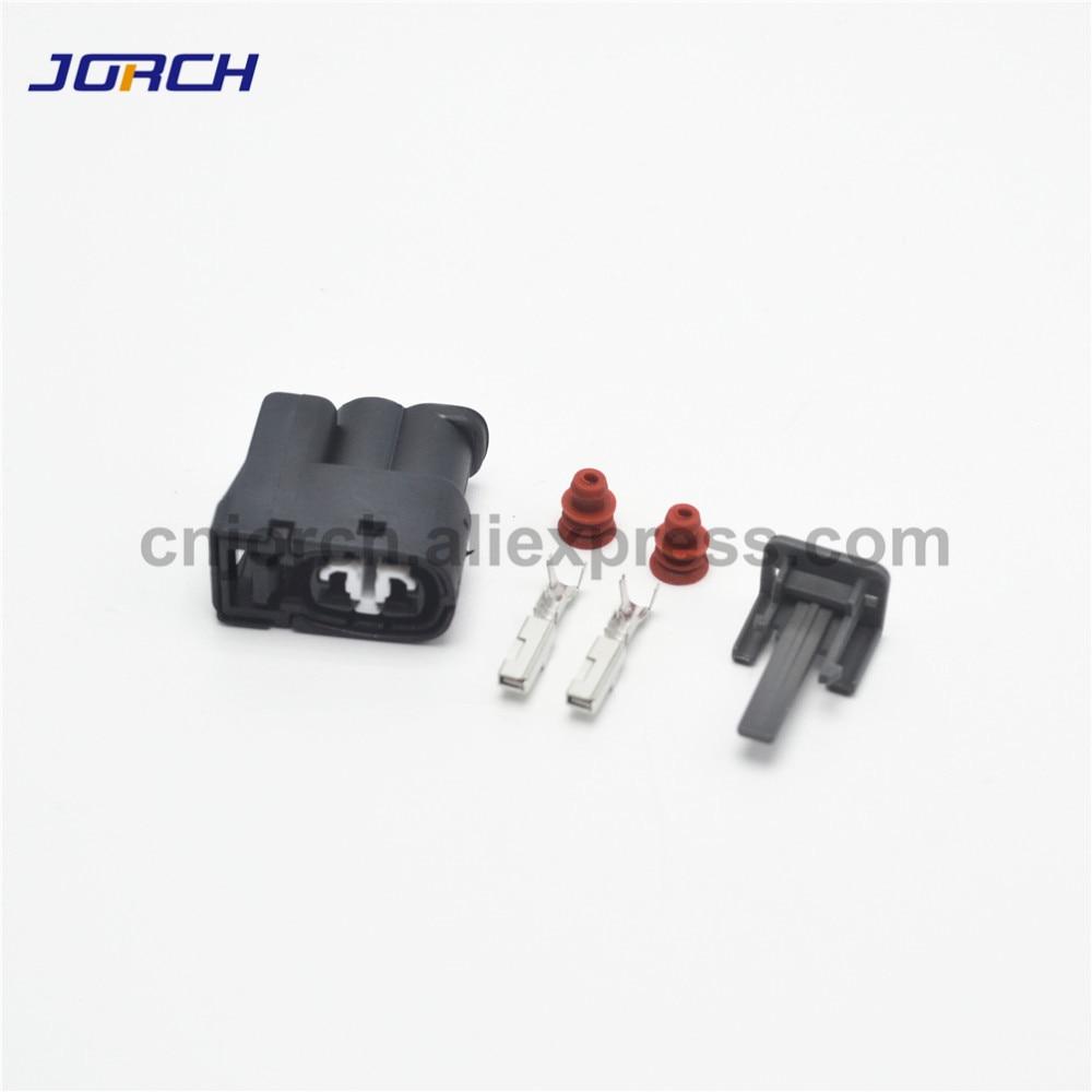 10 Sets 2 Pin Female Injector Auto Connector 90980-11246 7283-8226-30 For Toyota 2JZ-GE Matrix Lexus SC300 Hyundai Mazda RX7 S6