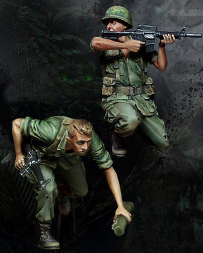 1/35 Resin Kits Vietnam War US Army Soldier 2pcs/set image