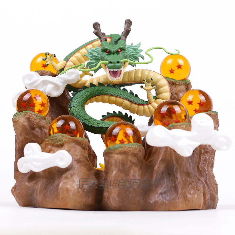 Dragon Ball Z Shenron + Tree Stump Stand + 7 Crystal Balls PVC Figures Collectible Model Toys with Retail Box ...