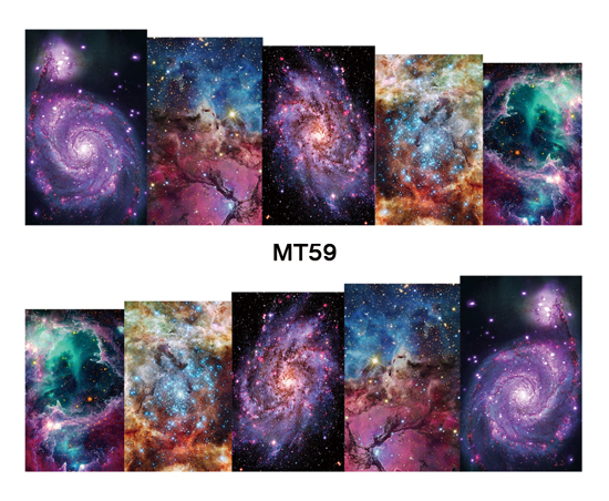 Nail Beauty MT59 Full Cover Galaxy Nebula Nail Art Water Transfer Sticker Decal For Nail Art Tattoo Tips DIY Nail Tool 4 packs lot full cover white french smile lace tattoos sticker water decal nail art d363 366w