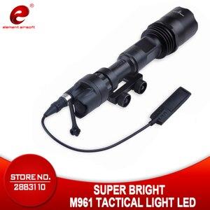 Image 1 - عنصر Airsoft التكتيكية ضوء M961 بندقية مصباح يدوي السوبر مشرق الصيد مصباح يدوي بندقية سلاح الخفيفة
