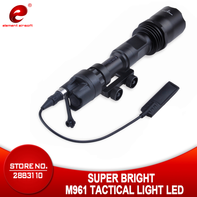 عنصر Airsoft التكتيكية ضوء M961 بندقية مصباح يدوي السوبر مشرق الصيد مصباح يدوي بندقية سلاح الخفيفة