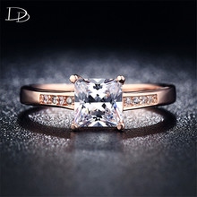 High quality jewelry 585 rose Gold color CZ dianmond bijoux crystal Multicolor Rings wedding engagement accessories gifts kr012