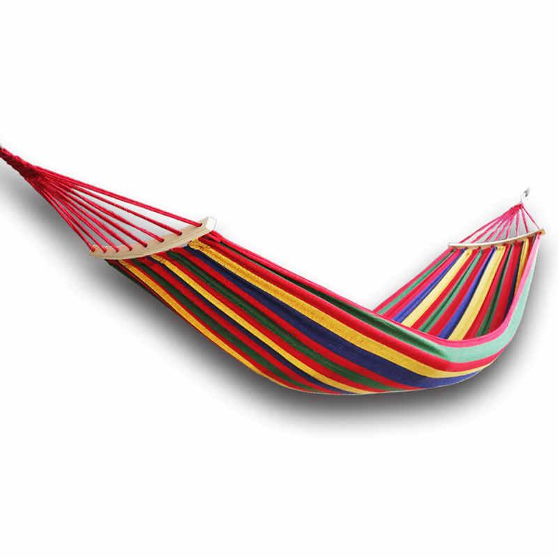 Портативный гамак-сад, Спорт, для дома, путешествия, кемпинга, качели, холст, полоса, подвесная кровать, гамаки, красный, синий, 190x80 см, открытый гамак