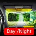 HD coche Visera de Sol de Espejo De Conductor Día y Noche Anti-dazzle Mirror Sun Viseras Clara Vista Deslumbrante Goggles Accesorios interiores