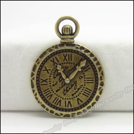 30 Stücke Weinlese-charme Uhr Anhänger Antike Bronze Fit Armbänder Halskette Diy Metallschmuckherstellung