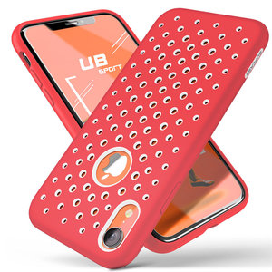 Image 5 - For iphone XR Case 6.1 inch SUPCASE UB Sport Liquid Silicone Rubber PC Premium Hybrid Case [Hole Pattern] with Heat Dissipation