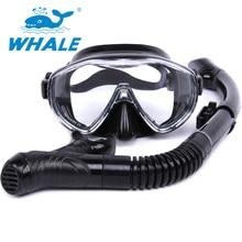 Profesionalus karštas pardavimas Banginis prekės ženklas 4 spalvos Nardymo kaukė Snorkel akiniai Nustatyti silikono baseino įrangą nemokamas pristatymas