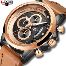 цена на LIGE Watch Men Fashion Sport Quartz Clock Mens Watches Top Brand Luxury Business Waterproof Watch Relogio Masculino Montre Homme