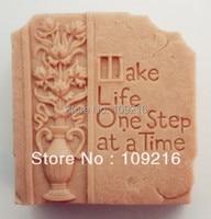 Wholsale!! bán buôn!! 1 cái Làm Cho Cuộc Sống Một Bước (ZX1535) Handmade Soap Khuôn Thủ Công DIY khuôn