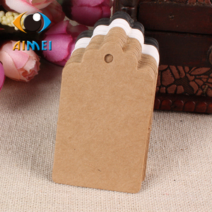 100pcs 3x5cm wave head blank Kraft paper hang tags for Bake blank wishes cards for handmade paper swing labels gift price listst