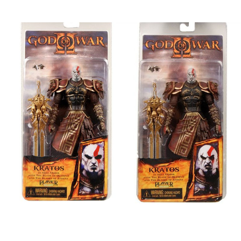 High Quality NECA God of War 2 II Kratos in Ares Armor W Blades 20cm PVC Action Figure Toy Doll Chritmas Gift 15A