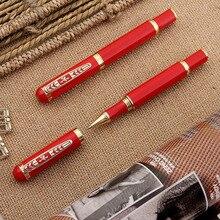 87ad0b765 Bolígrafo De Metal de alta calidad 0,5mm azul/negro tinta de lujo chino  rojo rotulador para oficina de escritura de negocios la .