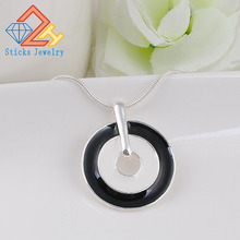 (1 pieces/lot) 100%Environmental protection zinc alloy material Round pendant necklace alloy enamel, free shipping movable skeleton shaped zinc alloy pendant necklace bronze