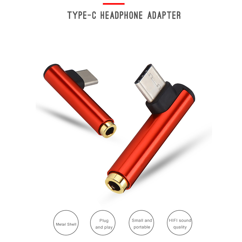 Type C to 3.5mm Jack Headphone Adapter Type-C AUX Audio Splitter USB Earphone For Xiaomi HUAWEI Phones
