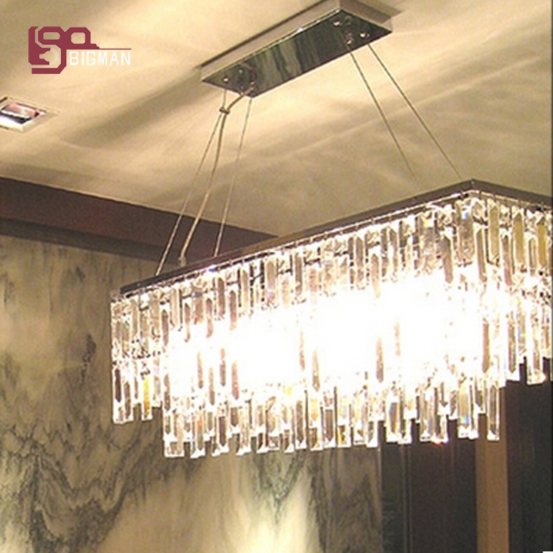Hot sales luxury crystal chandelier lighting modern lamp for dinning room hang wire LED light fixtures