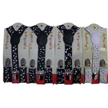 Free Shipping 2017 New Cute Kids Child Toddler Black White Music Note Suspenders For Boys Girls
