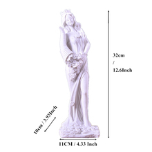 Room Decoration Accessories Sandstone Goddess Of Wealth Figurines Creative Miniatures White Statuettes Vintage