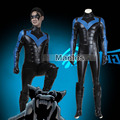 Batman Costume Adult Arkham City Nightwing Cosplay Halloween Christmas Costume Carnival Cosplay Jumpsuit Adult Men
