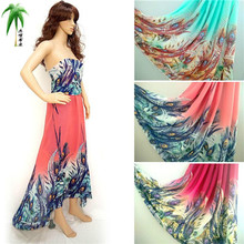 High Quality Floral Print Chiffon Gauze Elegant Dress Fabric Light Chiffon Sheer Cloth For Scarfs Material20170100045