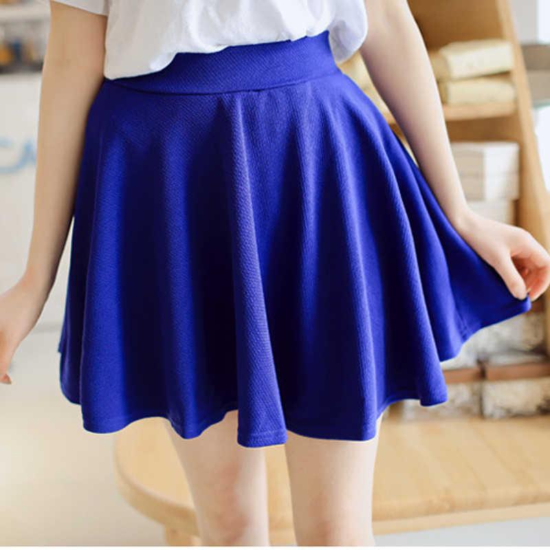 9796e921e ROPALIA mujeres busto pantalones cortos faldas falda Anti vaciado de talle  alto de seguridad Mini faldas de Color sólido falda