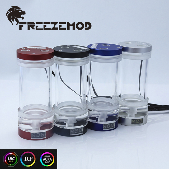 FREEZEMOD computer water cooling cylinder water tank OD60mm with thermometer 12V RGB synchronous version. YSX 6WDR21/26