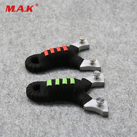 2 Color 304 Stainless Steel Flat Rubber Band Slingshot for Outdoor Game Hunting Shooting