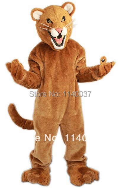mascot Leopard Panther Cat Cougar Mascot Costume Adult Size Cartoon Character carnival costume fancy Costume
