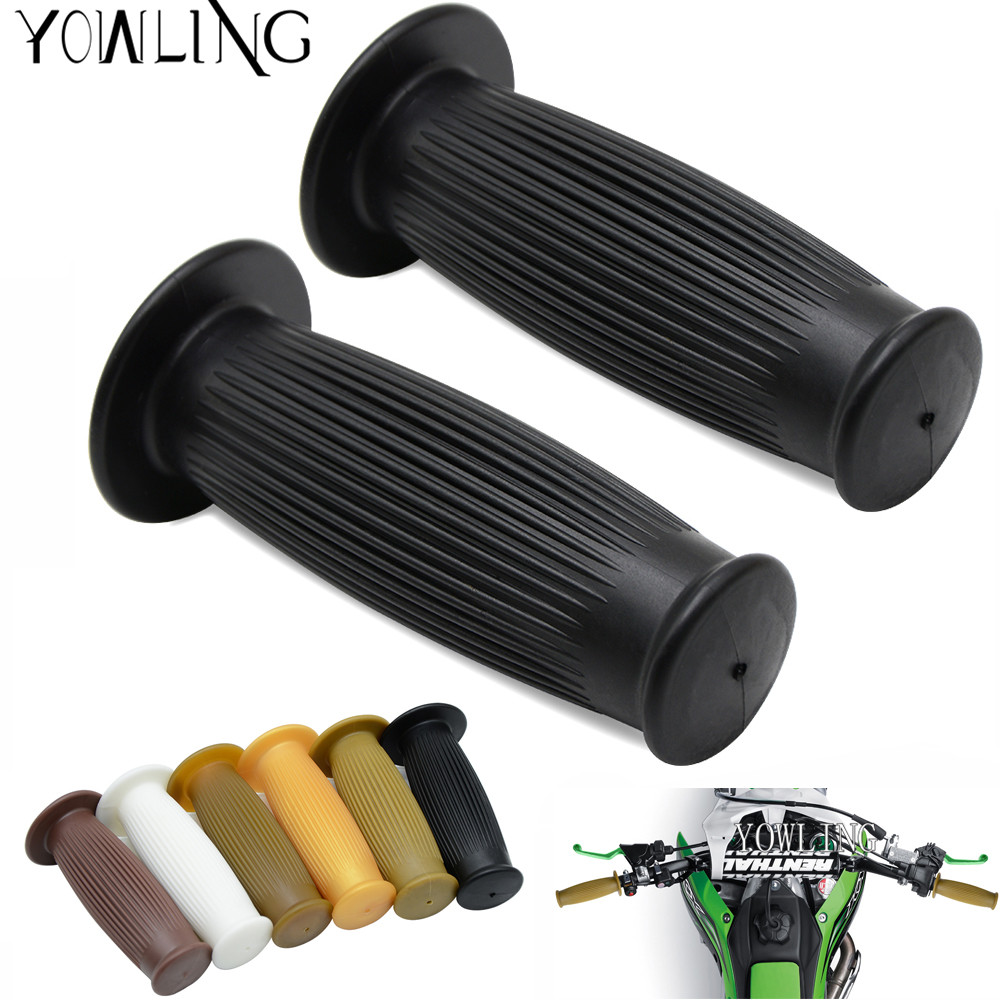 25mm 28mm Vintage Handle Grips Motorcycle Universal Rubber handlebar grips Hand Grip Bar Ends For Universal Motocross Handle Bar