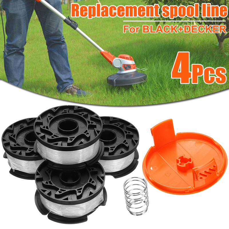 6 Pcs Replacement Spool Line String Trimmer 30ft 0.065 Inch For BLACK+DECKER Grass Trimmer Head Garden Tool