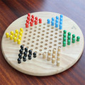 Good deal Traditional Hexagon Wooden Chinese Checkers Family Game Set