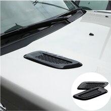 ملحق سيارة لاند روفر ديسكفري سبورت LR4 ل رينج روفر إيفوك رواج هود منفذ تنفيس الهواء الجناح ريم ملصقات 2 قطعة