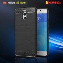 Carbon fiber silicone case for Meizu M6