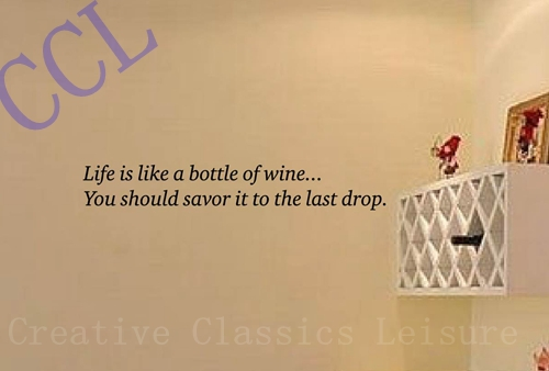 Free shipping wine wall decal vinyl wall art , wine wall decor ,wall ...
