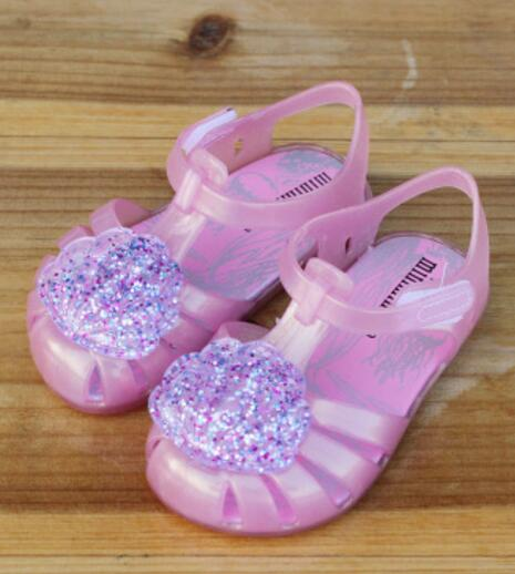 Dropwow Mini Melissa Brazil Girl Jelly shell Sandals 2018 New ... 4b46414f1a16