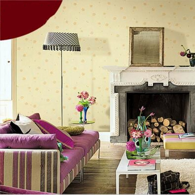 Free Shipping Pastoral flower hotel high quality wallpaper bedroom living room guest house Dormitory wallpaper free shipping high quality 2015 mini disc flower sinamay fascinator with feather for race