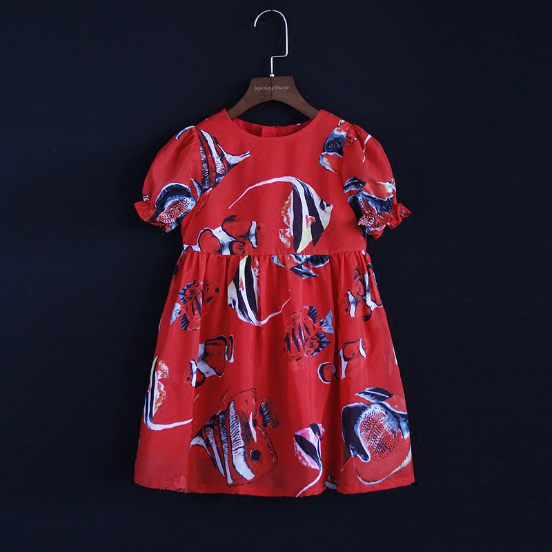 Summer European children chiffon family clothes women kids mom girl flatfish beach dress matching mother daughter fashion dress summer brand children chiffon family look clothes kids mom girl flower print beach dress matching mother daughter fashion dress