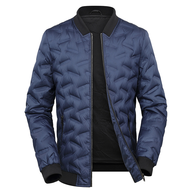 2018 Autumn and winter men's collar solid color casual down jacket cotton large size  8XL 7XL 6XL jacket tide men's clothing