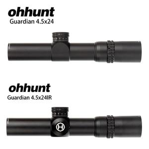 Image 3 - Ohhunt الجارديان 4.5x24 الصيد بندقية نطاق 30 مللي متر أنبوب التكتيكية البصريات البصر 1/2 نصف ميل نقطة شبكاني الأبراج إعادة Riflescope